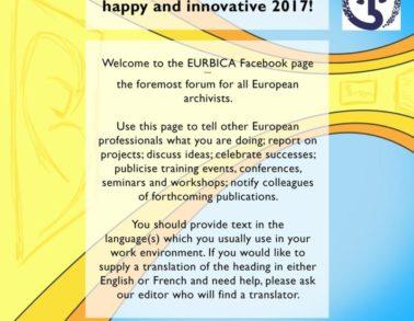 Image for EURBICA made by Marieke Noordhuis