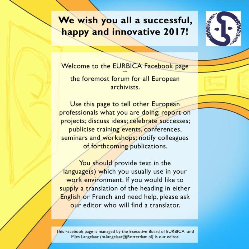 EURBICA facebooklaunch illustratie en tekst