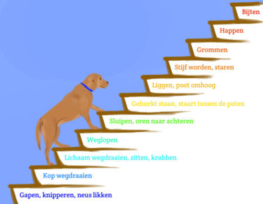 Illustratie Drukke pup van Ondine de Hullu