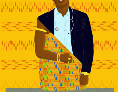 Uitnodiging Kofi. Illustratie en vormgeving door Marieke Noordhuis