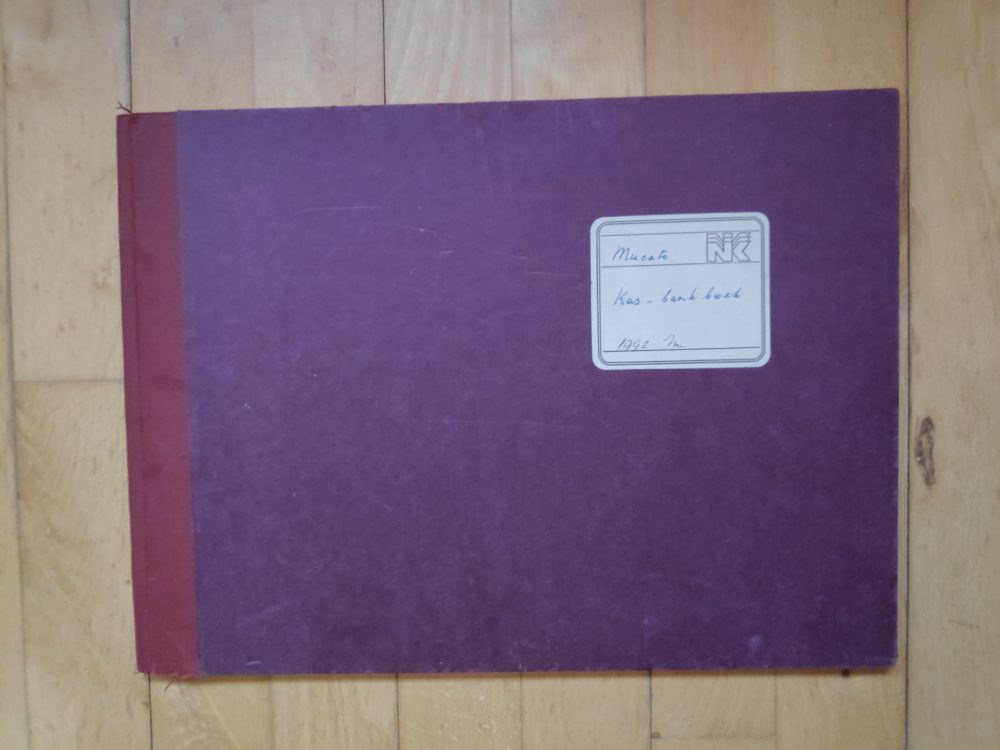 Kaft boekhouding Mucato 1992