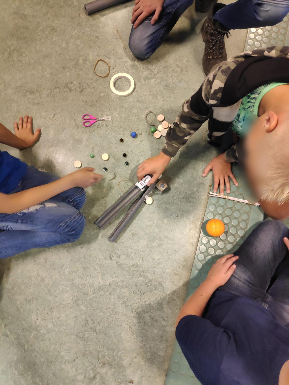 Reactiebaan bouwende leerlingen