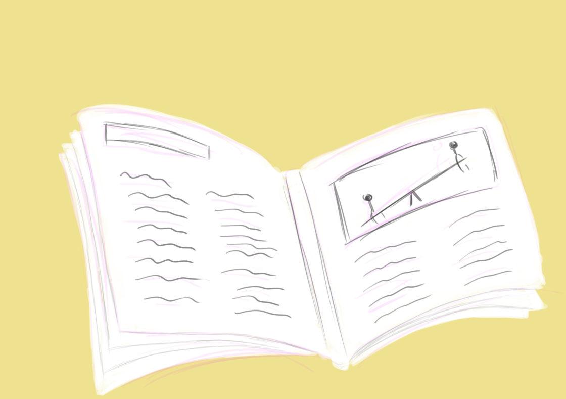 Illustratie van boek bij blog