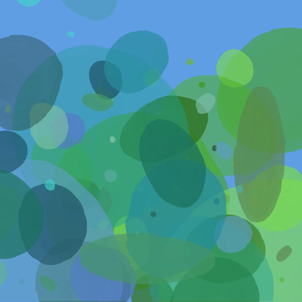 Villa Arion Kleurenspel blauw groen rond