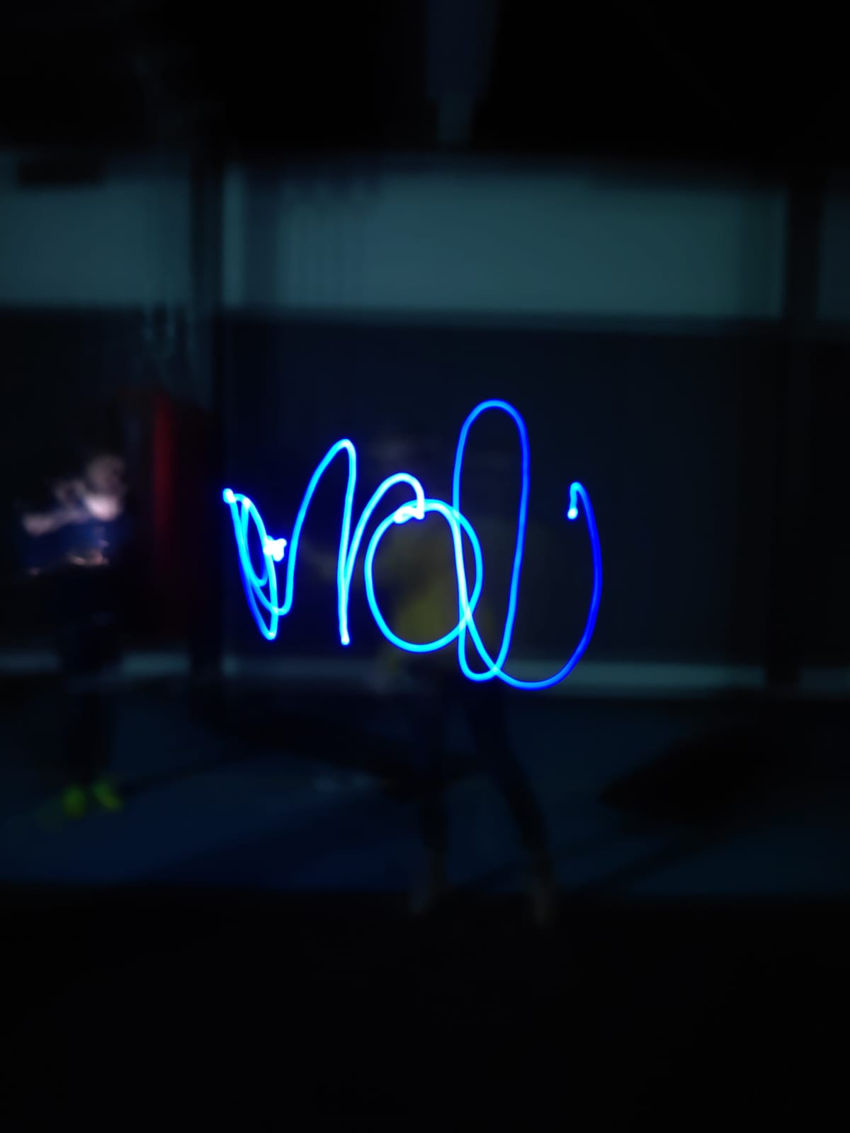 light graffiti scribble name