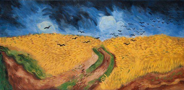 Van Gogh Korenveld met kraaien